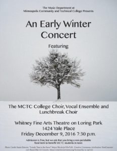 Winter Choir Poster